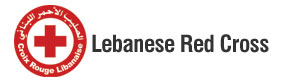 Croix Rouge Libanaise logo in red on white background to the left of text Lebanese Red Cross also in red