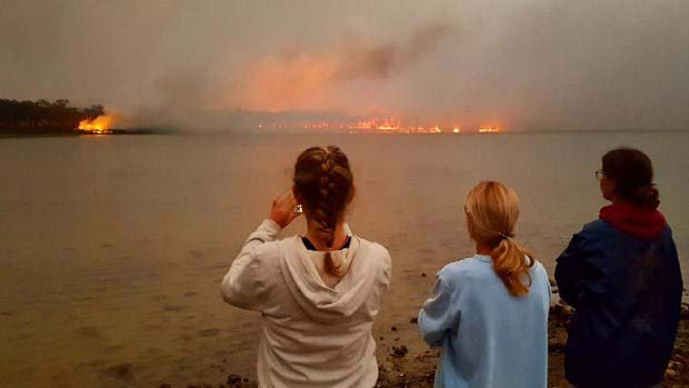 Trio of people aboard Australian Navy