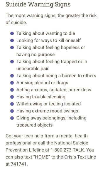 11 suicide warning signs