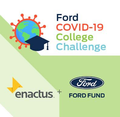 Ford, Endactus logos with Ford COVID-19 College Challenge text