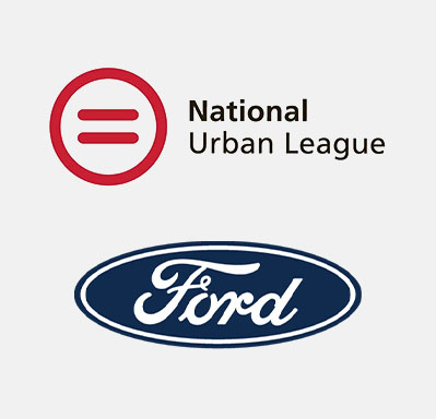 Urban League logo atop Ford Fund logo