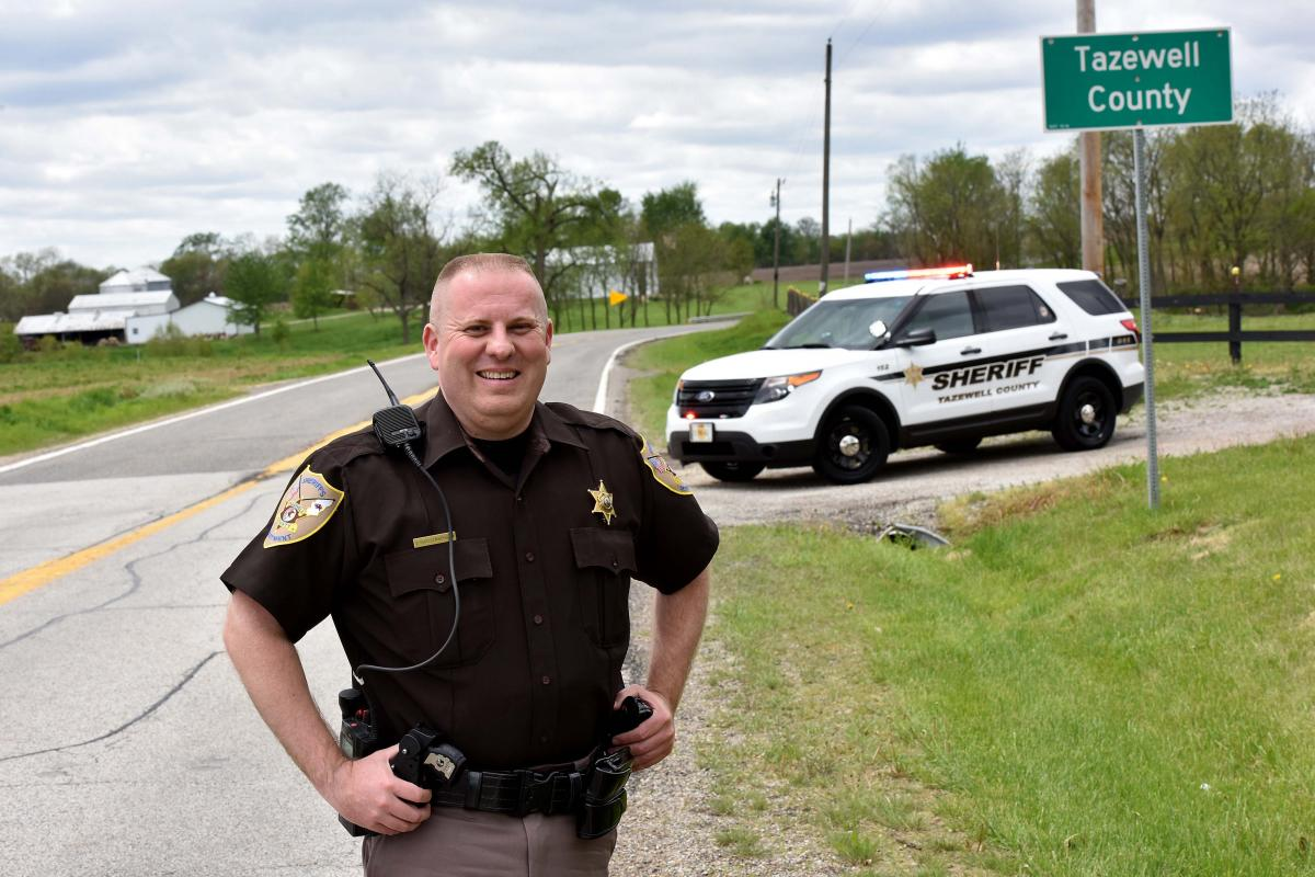 Tazewell County Deputy Sheriff John Shallenberger helped develop the county's Decision Driving program Photograph: Sam VarnHagen